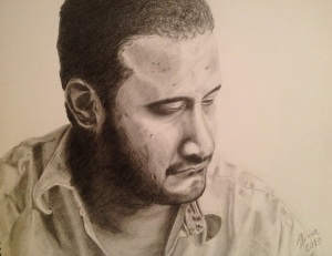A portrait I drew of Saleh
