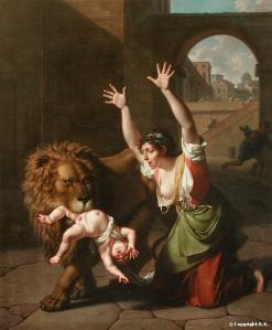Le Lion de Florence by Nicolas-André Monsiau (1754-1837)